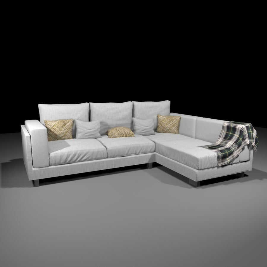 soffa royalty-free 3d model - Preview no. 1