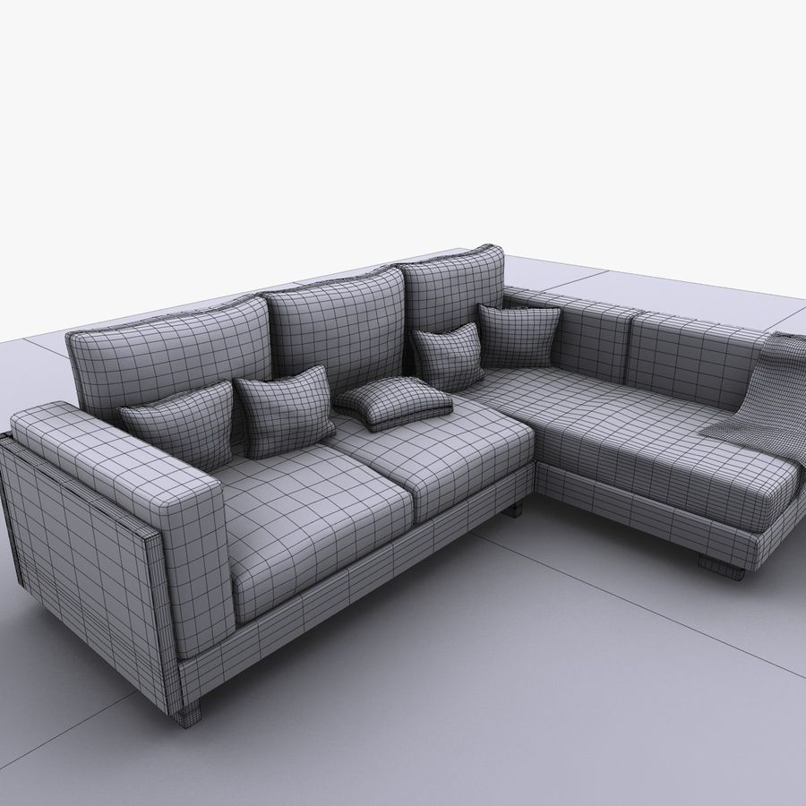 soffa royalty-free 3d model - Preview no. 11