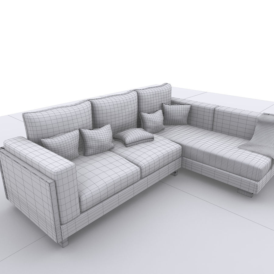 soffa royalty-free 3d model - Preview no. 9