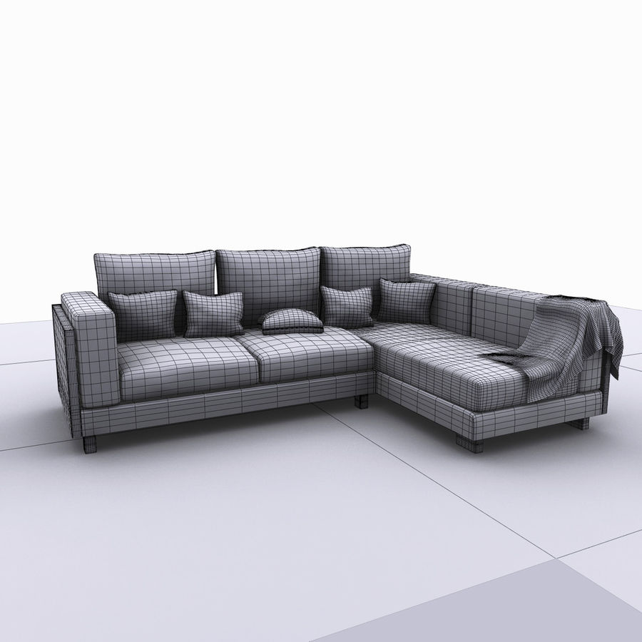 soffa royalty-free 3d model - Preview no. 10