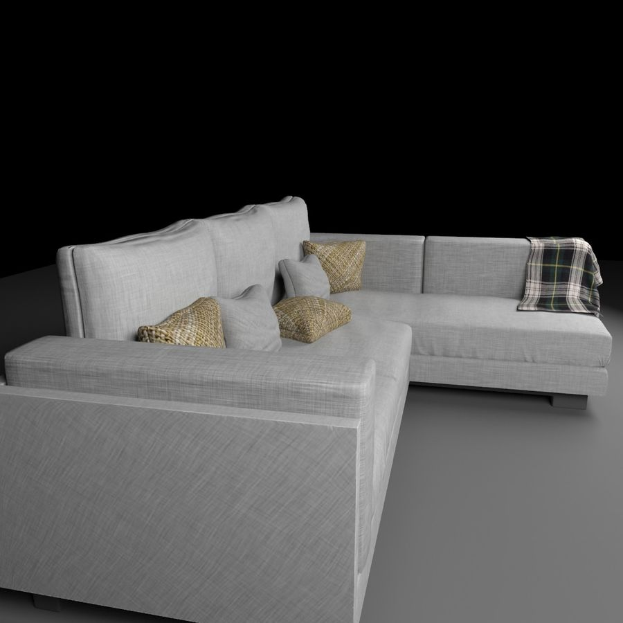 soffa royalty-free 3d model - Preview no. 4