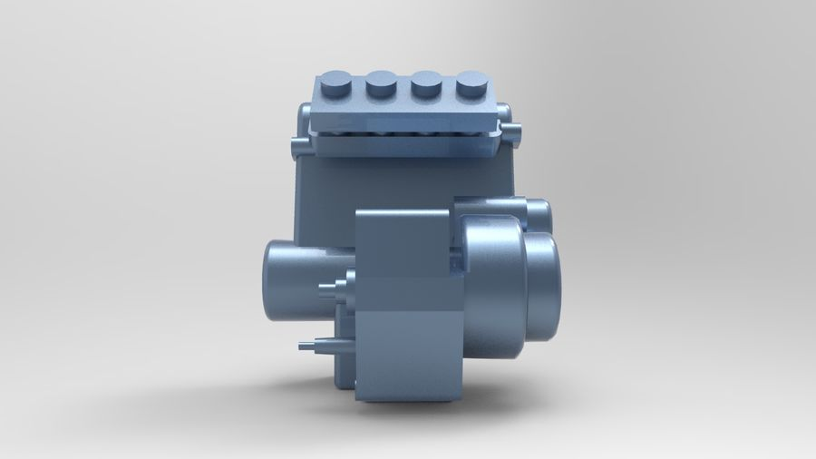 Engine motor royalty-free 3d model - Preview no. 5