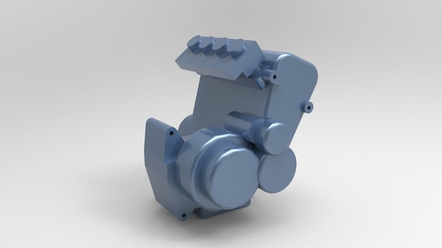 Engine motor royalty-free 3d model - Preview no. 2