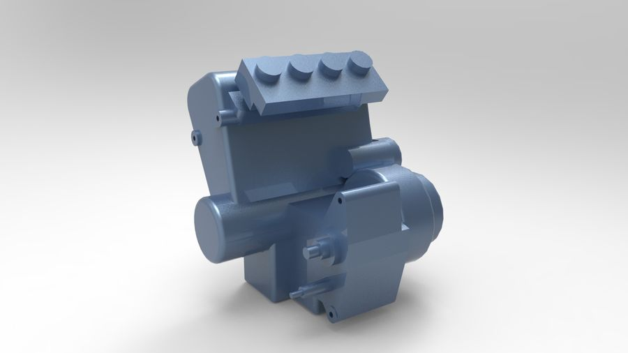 Engine motor royalty-free 3d model - Preview no. 1