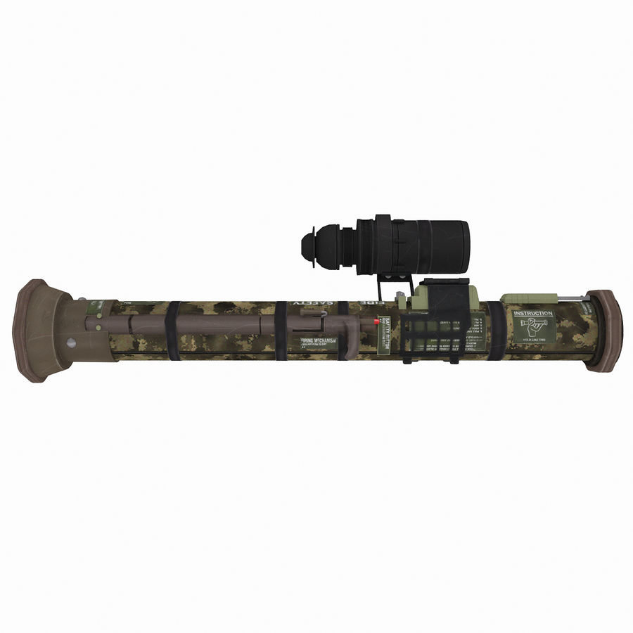 Authentic Military Rocket Launcher RPG 1 royalty-free 3d model - Preview no. 3