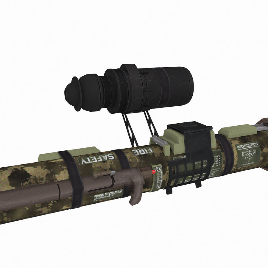 Authentic Military Rocket Launcher RPG 1 royalty-free 3d model - Preview no. 4