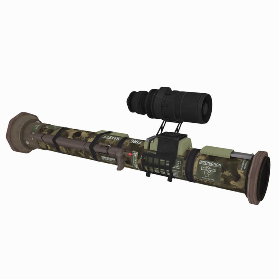 Authentic Military Rocket Launcher RPG 1 royalty-free 3d model - Preview no. 1
