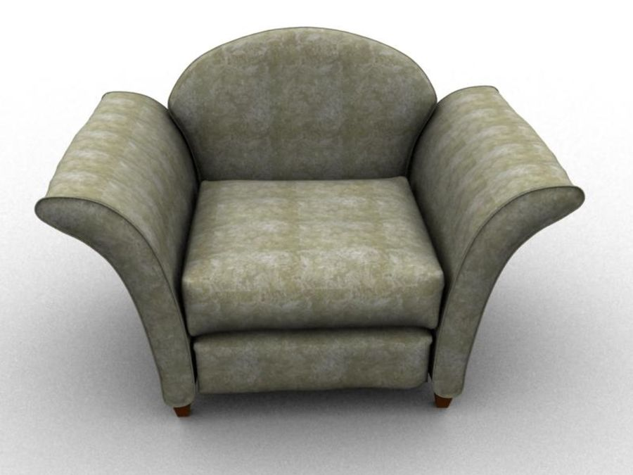 sofa furniture royalty-free 3d model - Preview no. 5