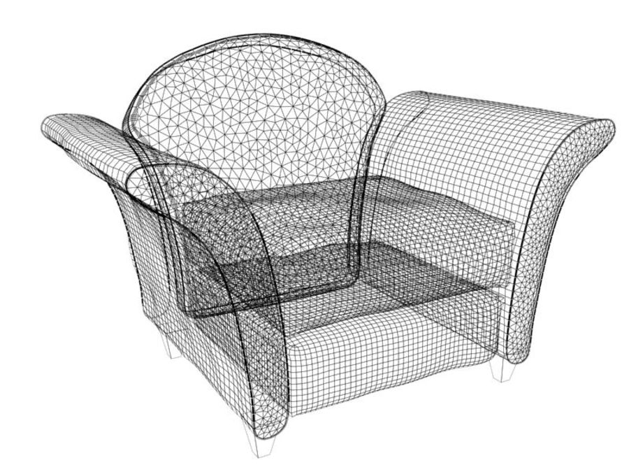sofa furniture royalty-free 3d model - Preview no. 7