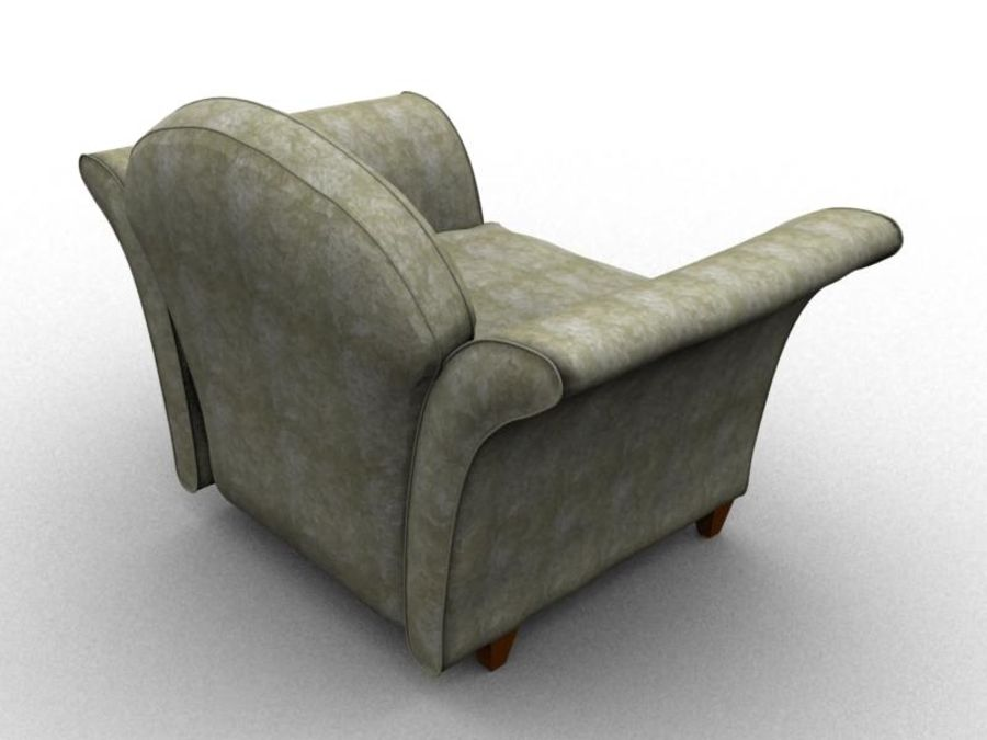 sofa furniture royalty-free 3d model - Preview no. 3