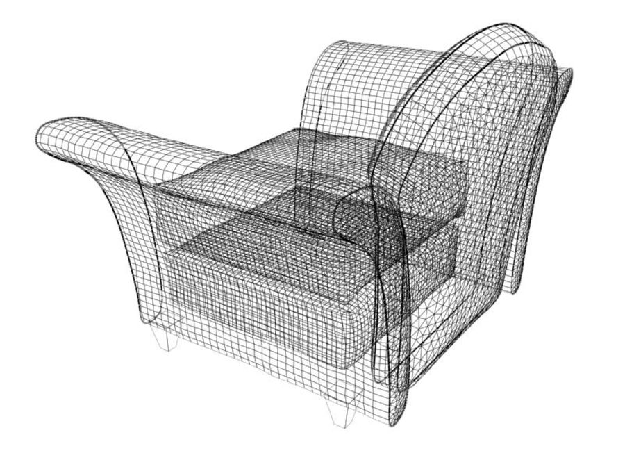 sofa furniture royalty-free 3d model - Preview no. 9