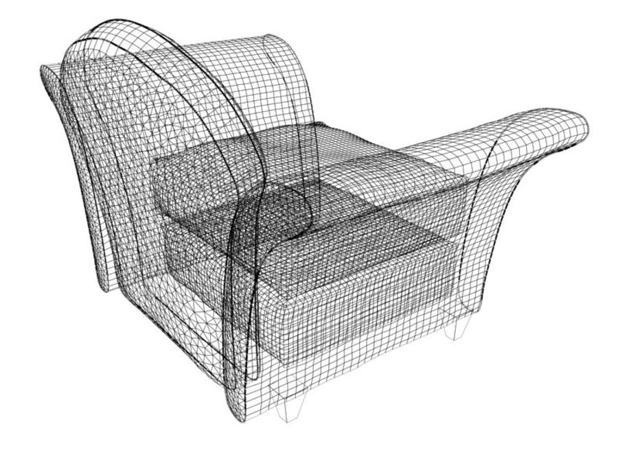 sofa furniture royalty-free 3d model - Preview no. 8