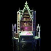 Gothic-bookcase 3d model