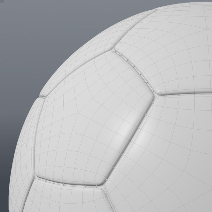 Soccer Ball royalty-free 3d model - Preview no. 10