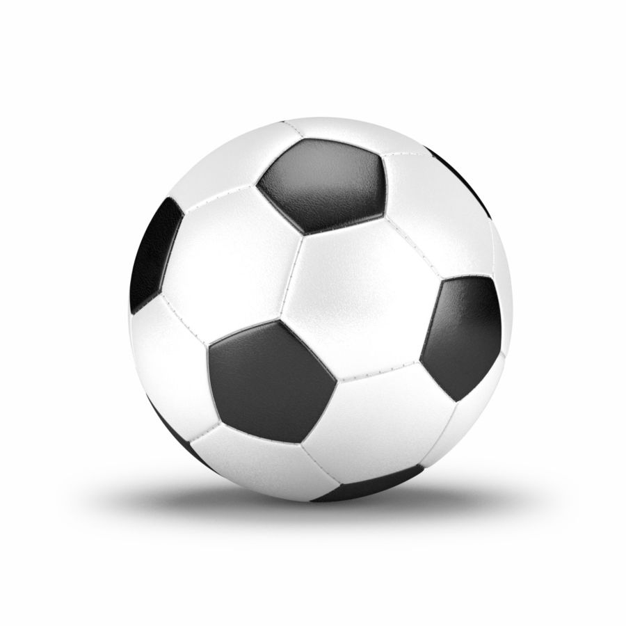 Soccer Ball royalty-free 3d model - Preview no. 8