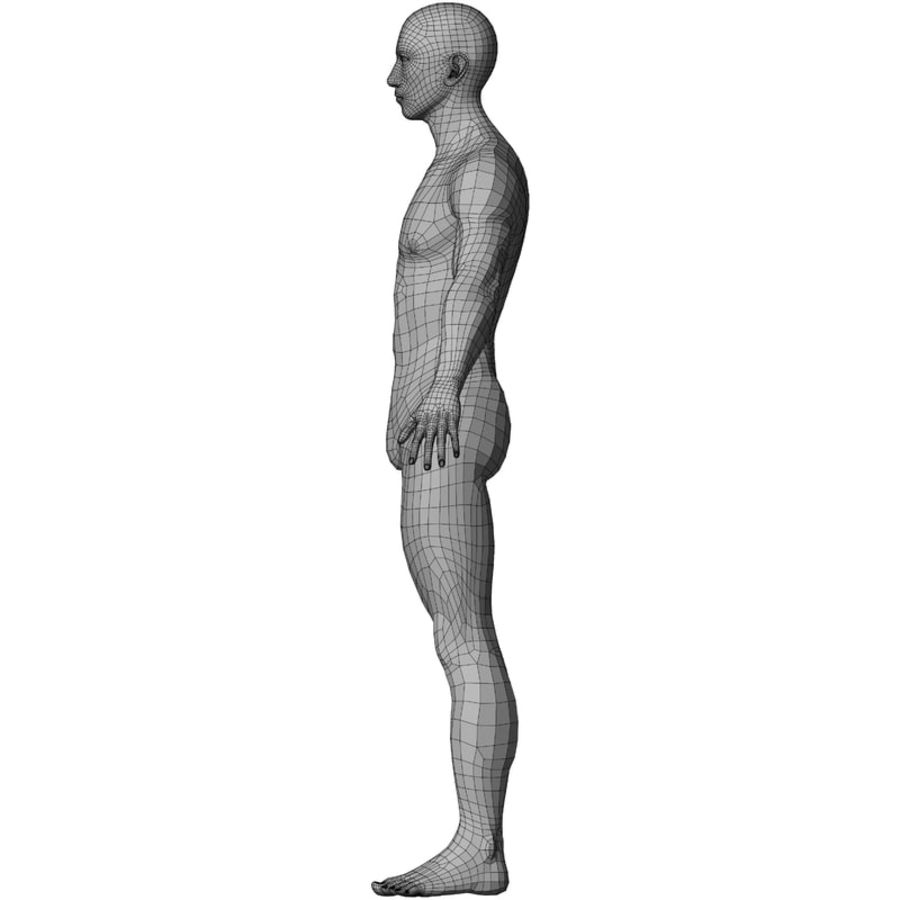 Male Base Mesh royalty-free 3d model - Preview no. 41
