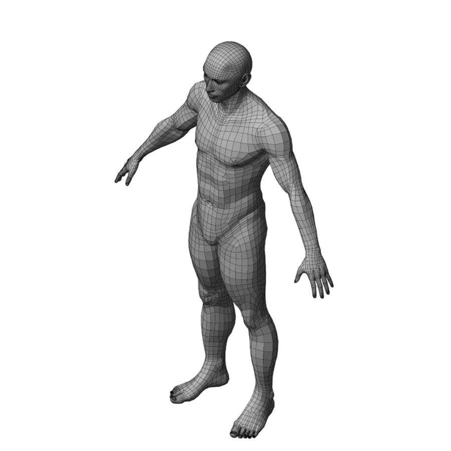 Male Base Mesh royalty-free 3d model - Preview no. 33
