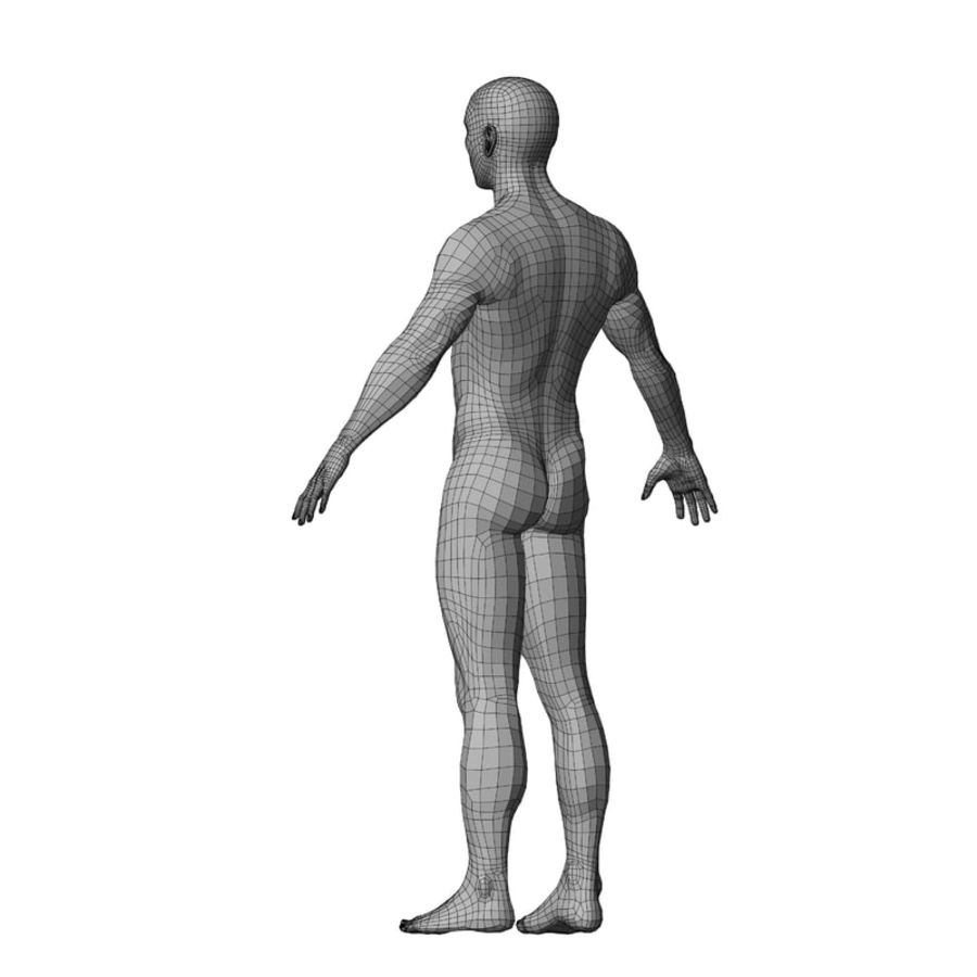 Malla de base masculina royalty-free modelo 3d - Preview no. 34