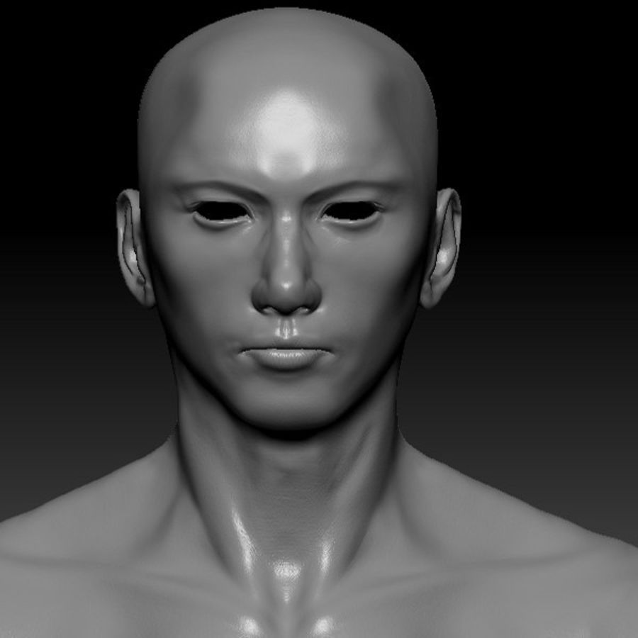 Malla de base masculina royalty-free modelo 3d - Preview no. 47