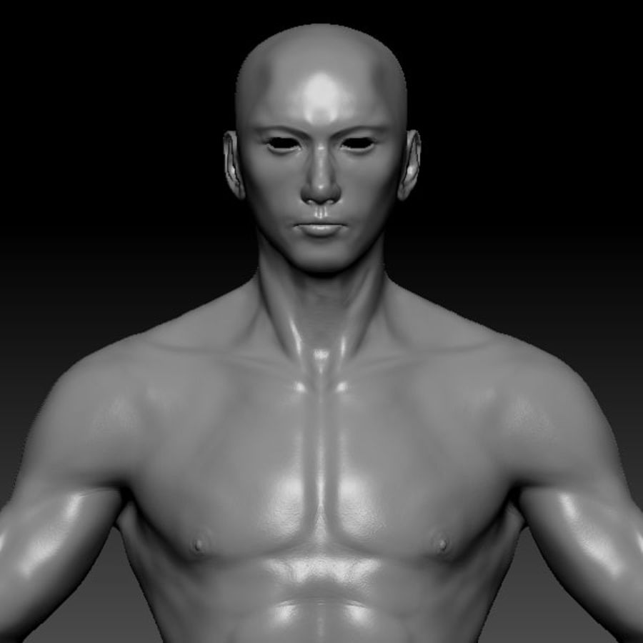 Malla de base masculina royalty-free modelo 3d - Preview no. 43