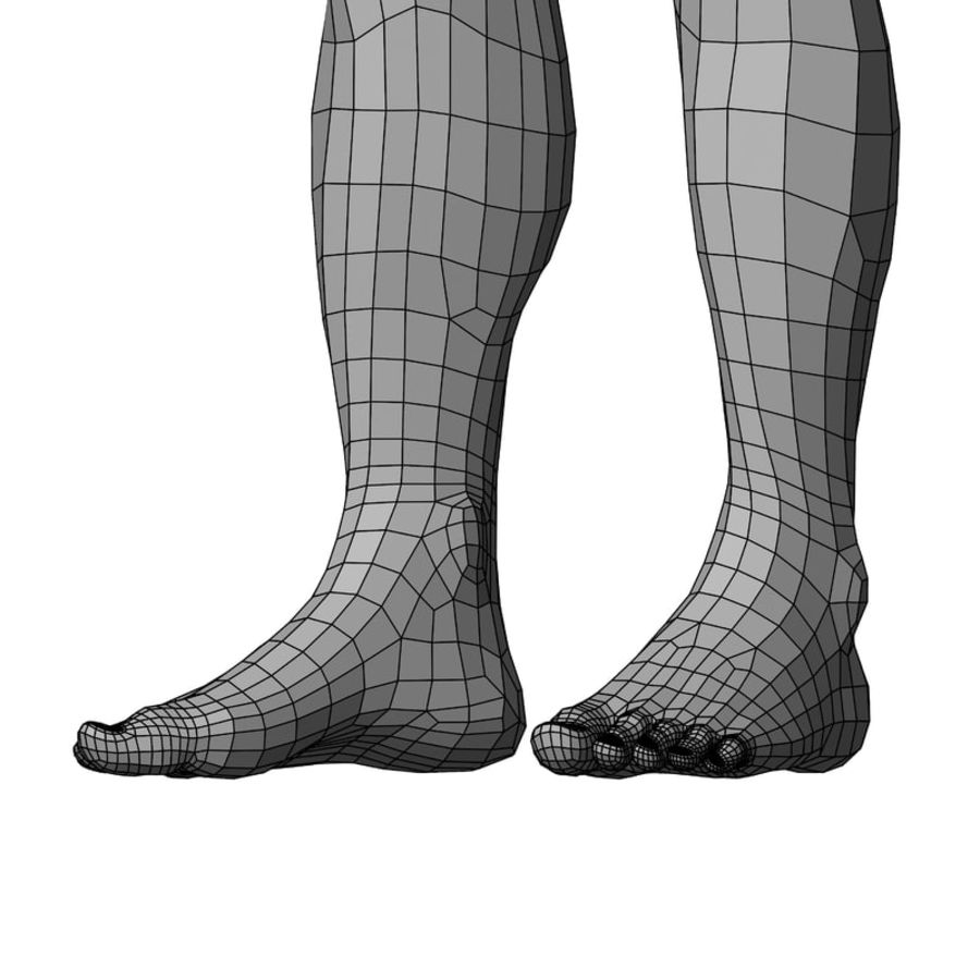 Male Base Mesh royalty-free 3d model - Preview no. 39