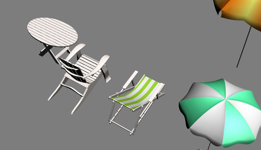 Beach Set Extended royalty-free 3d model - Preview no. 15