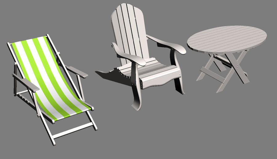 Beach Set Extended royalty-free 3d model - Preview no. 5