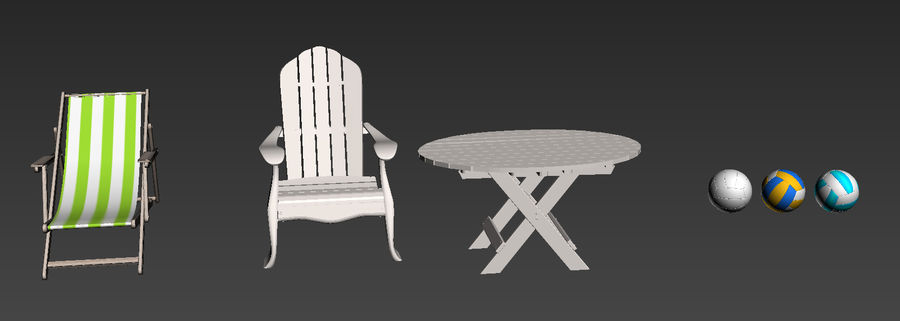 Beach Set Extended royalty-free 3d model - Preview no. 2