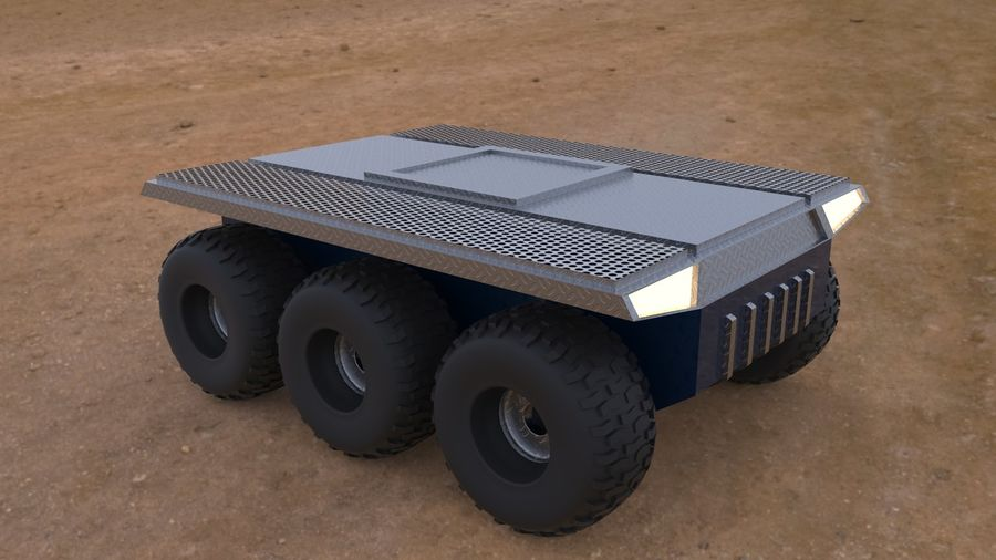 Car military platform royalty-free 3d model - Preview no. 1
