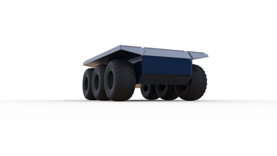 Car military platform royalty-free 3d model - Preview no. 4