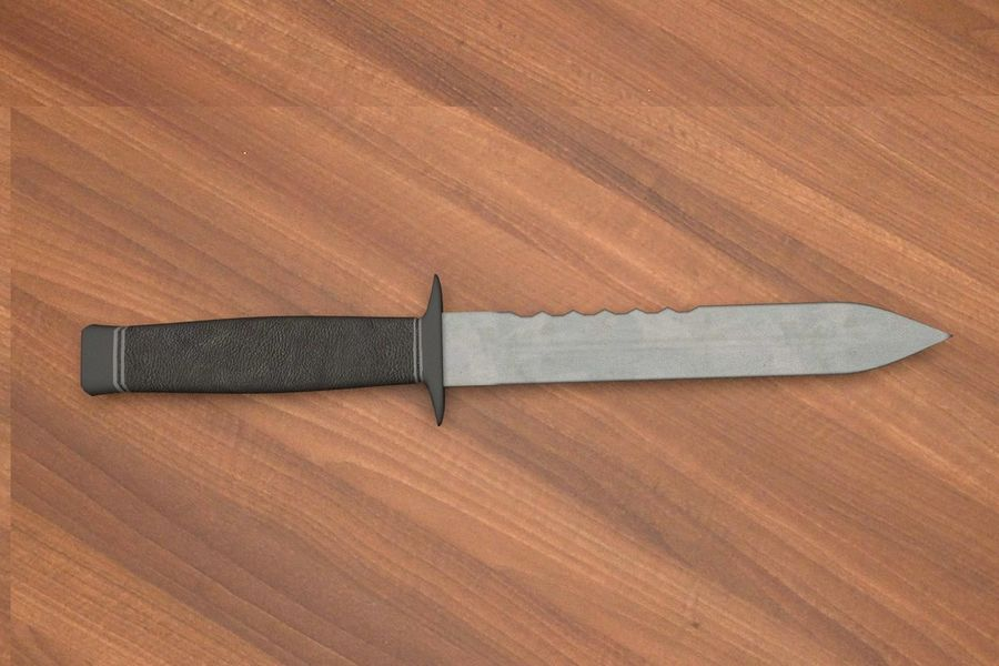 Combat Knife royalty-free 3d model - Preview no. 1