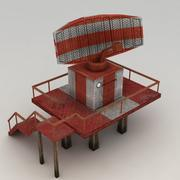Lowpoly radar station 3d model