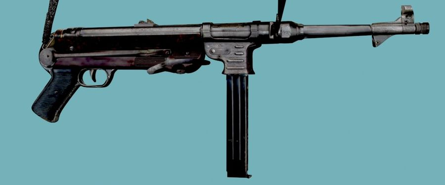 MP40 Gun Weapon royalty-free 3d model - Preview no. 4