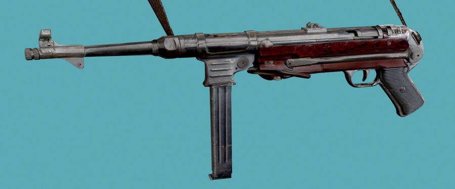MP40 Gun Weapon royalty-free 3d model - Preview no. 1