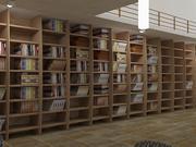 Realistiskt Bibliotek Inredning 3d model