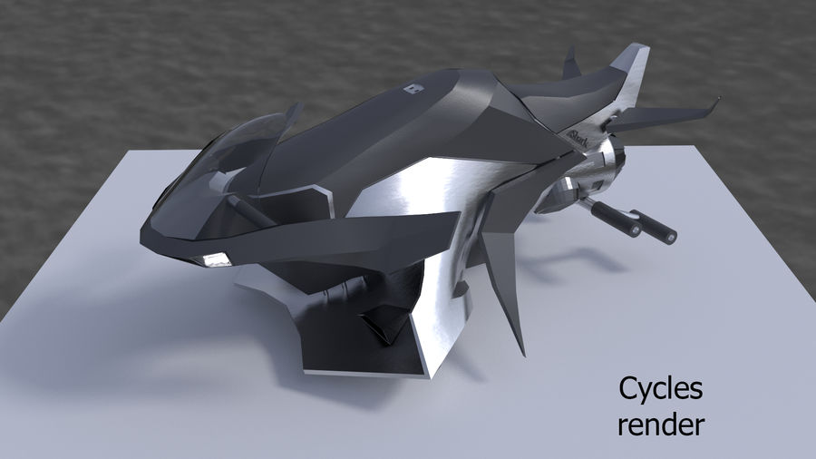 Hover Bike Shark FL1 royalty-free 3d model - Preview no. 4