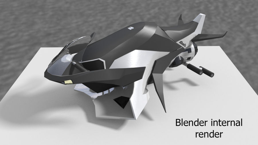 Hover Bike Shark FL1 royalty-free 3d model - Preview no. 5
