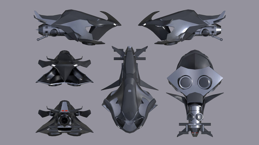 Hover Bike Shark FL1 royalty-free 3d model - Preview no. 6