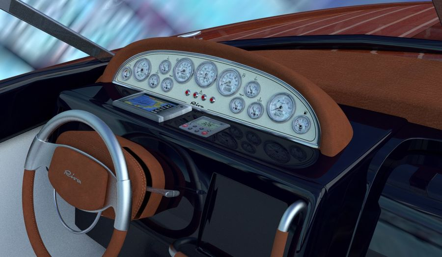Aquariva Super royalty-free 3d model - Preview no. 3