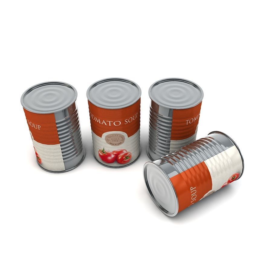 Food Can - Tomato soup royalty-free 3d model - Preview no. 6