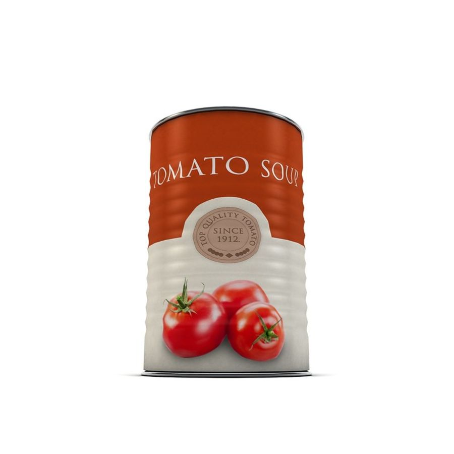 Food Can - Tomato soup royalty-free 3d model - Preview no. 5