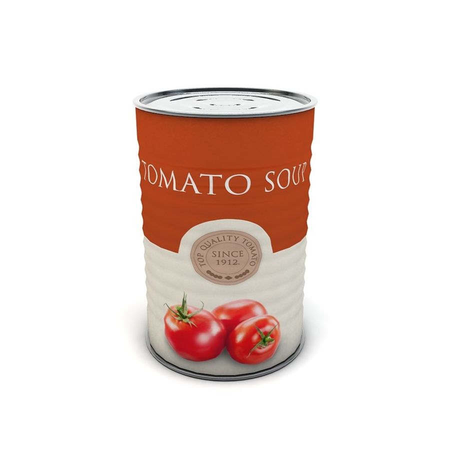 Food Can - Tomato soup royalty-free 3d model - Preview no. 3