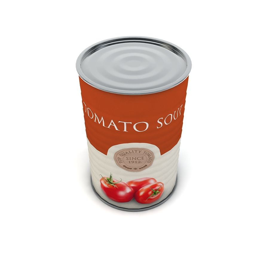 Food Can - Tomato soup royalty-free 3d model - Preview no. 4