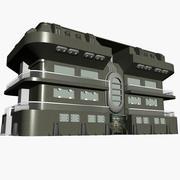 SCI FI BUILDING 3d model
