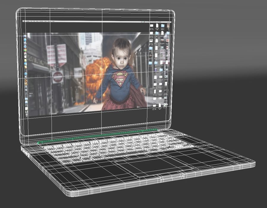 Laptop Computer royalty-free 3d model - Preview no. 5