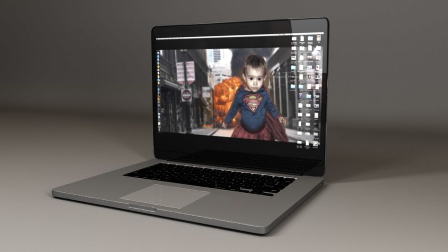 Laptop Computer royalty-free 3d model - Preview no. 1