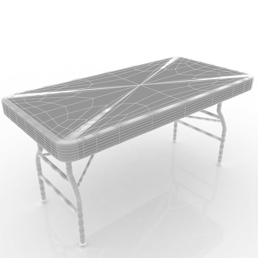 Center Folding Table Royalty Free 3d Model   Preview No. 6