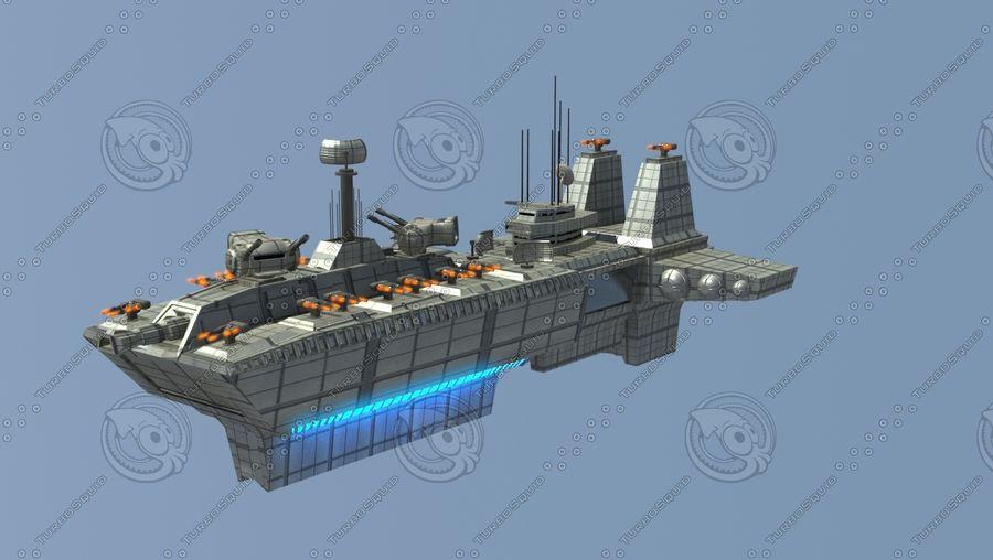 Battleship Sci-fi royalty-free 3d model - Preview no. 1