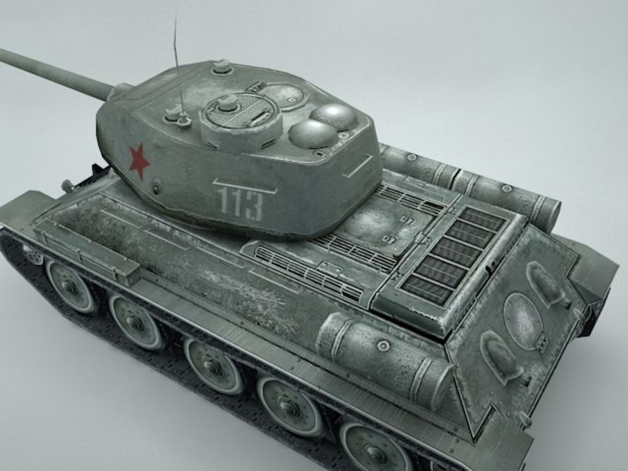 t-34 royalty-free 3d model - Preview no. 11