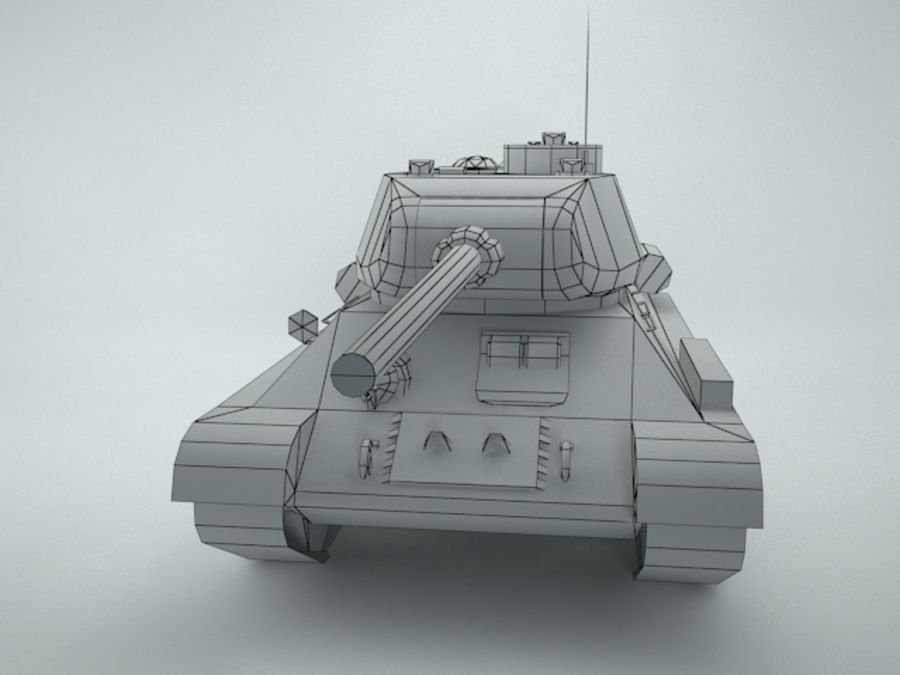 t-34 royalty-free 3d model - Preview no. 14